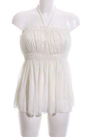 Charlotte Russe Top a fascia bianco sporco stile casual
