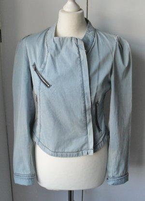 Charlotte Russe Denim Jacket azure cotton