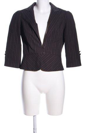 Charlotte Russe Short Blazer brown-black striped pattern casual look