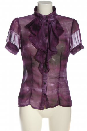 Charlotte Russe Short Sleeved Blouse blue-lilac casual look