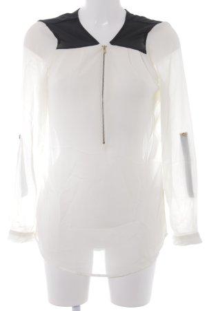 Charlotte Russe Long Sleeve Blouse cream-black casual look