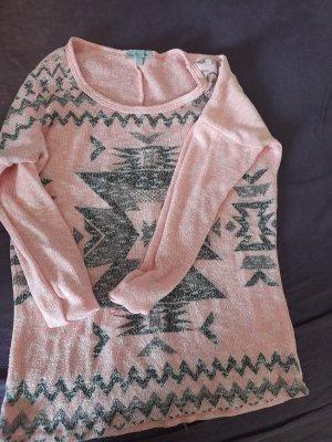 Charlotte Russe Crochet Sweater pink