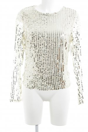 Charlotte Russe Crewneck Sweater cream striped pattern party style