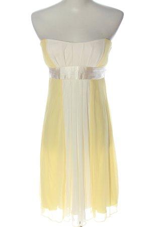 Charlotte Russe schulterfreies Kleid blassgelb-weiß Elegant
