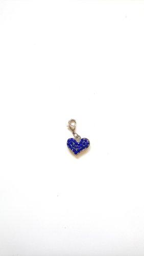 Pendente argento-blu