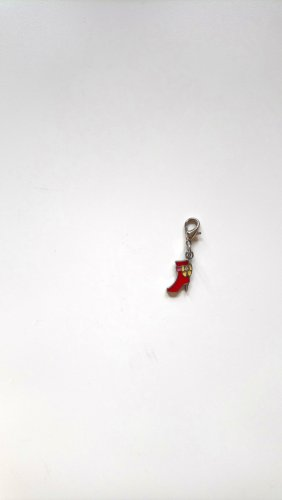 Charm silver-colored-red