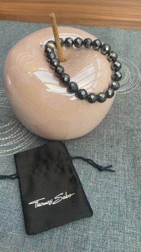 Thomas Sabo Armband met parels zwart
