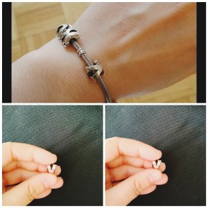 Charm silver-colored