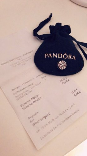 Pandora Charm silver-colored-raspberry-red real silver