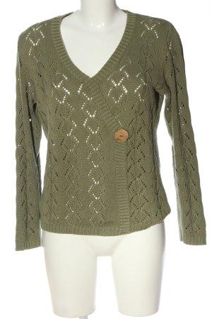 Charmant V-Neck Sweater khaki casual look