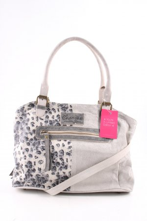 Charme Bowling Bag natural white-light grey animal pattern casual look
