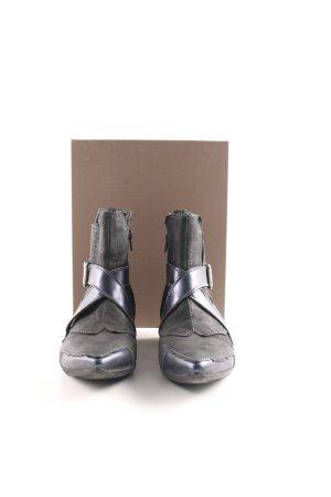 Charme Reißverschluss-Stiefeletten schwarz-blau extravaganter Stil