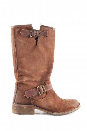 Charme Schaftstiefel braun Casual-Look