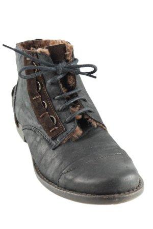 Charme Aanrijg laarzen zwart-donkerbruin straat-mode uitstraling