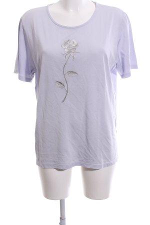 Charme T-Shirt lila-silberfarben Motivdruck Casual-Look