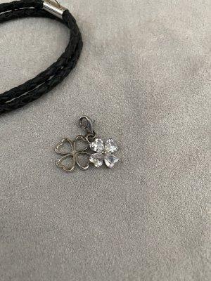 Charms Anhänger Kleeblatt 825 Silber