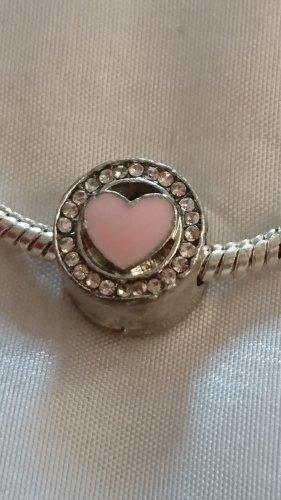 Ciondolo argento-rosa