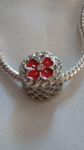 Ciondolo argento-rosso