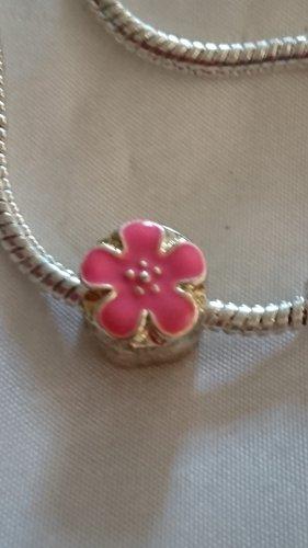 Dije color plata-rosa
