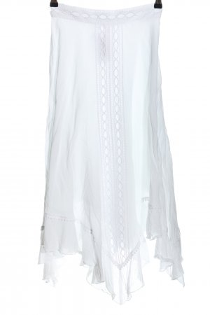 Charo Ruiz Jupe taille haute blanc style décontracté