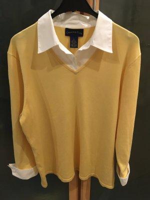 Charter Club Maglione lavorato a maglia giallo pallido Seta