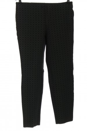 Charter Club Stretch Trousers black-light grey allover print casual look