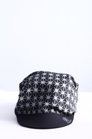 Chaskee Cappello con visiera blu-bianco stampa integrale stile casual