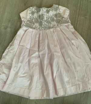 Chalou Shortsleeve Dress light pink-light brown cotton