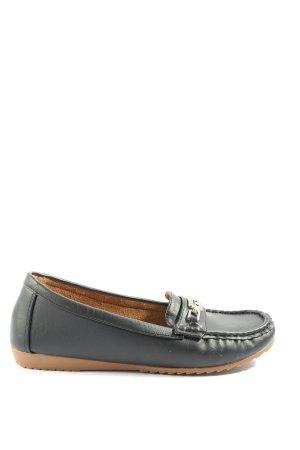 chc-shoes Mokasyny czarny W stylu casual