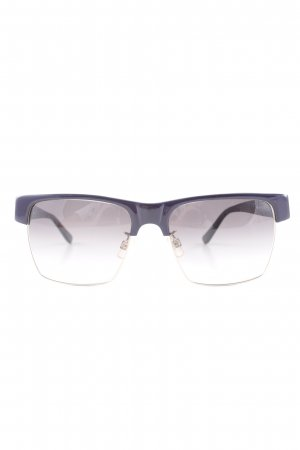 Cheap Monday Brille schwarz-braunviolett Logo-Applikation aus Metall