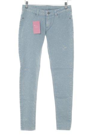 Cheap Monday Hoge taille jeans lichtblauw kleurvlekken patroon Jeans-look