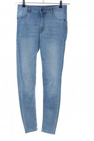 Cheap Monday Hoge taille jeans blauw casual uitstraling