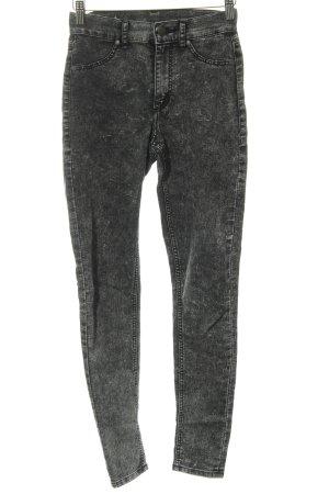 Cheap Monday Hoge taille jeans zwart gestippeld simpele stijl