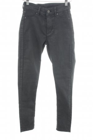 Cheap Monday Hoge taille jeans zilver-donkergrijs casual uitstraling