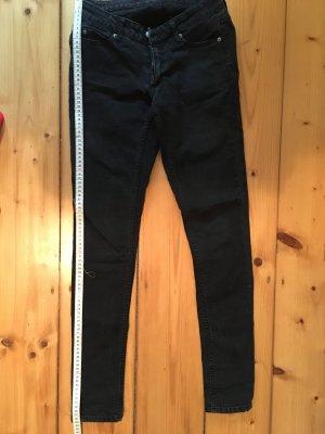 Cheap Monday pantalón de cintura baja negro Algodón