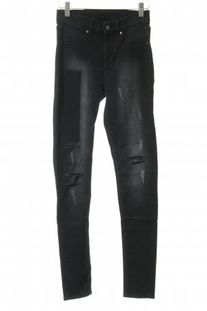 Cheap Monday Jeggings schwarz-hellgrau Casual-Look