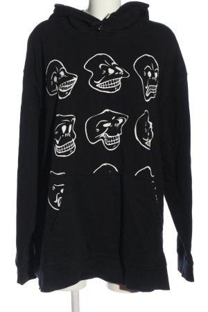 Cheap Monday Kapuzensweatshirt schwarz-weiß Motivdruck Casual-Look