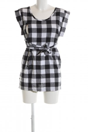 Cheap Monday Camicetta lunga nero-bianco motivo a quadri stile casual