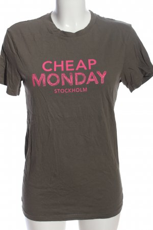 Cheap Monday Print-Shirt khaki-pink Motivdruck Casual-Look