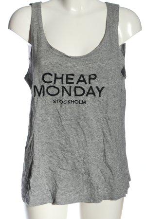 Cheap Monday Print-Shirt hellgrau-schwarz Schriftzug gedruckt Casual-Look
