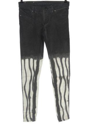 Cheap Monday Tube Jeans black-white striped pattern extravagant style
