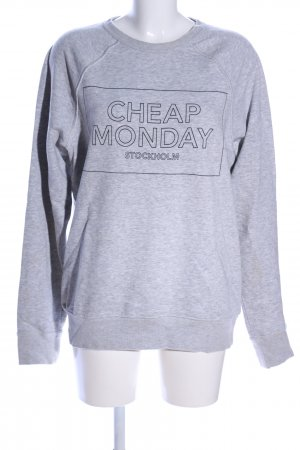 Cheap Monday Rundhalspullover hellgrau meliert Casual-Look