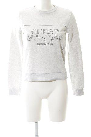 Cheap Monday Rundhalspullover hellgrau-wollweiß Casual-Look