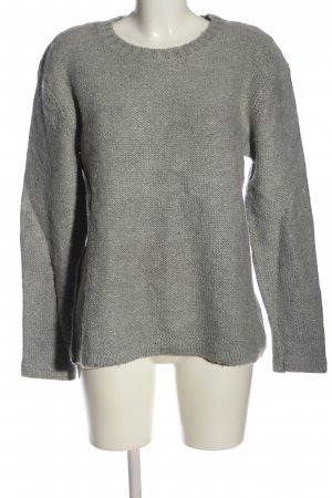 Cheap Monday Crewneck Sweater light grey cable stitch casual look