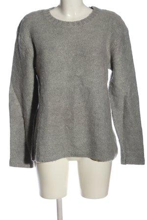 Cheap Monday Kraagloze sweater lichtgrijs kabel steek casual uitstraling