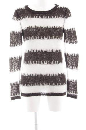 Cheap Monday Rundhalspullover schwarz-weiß Streifenmuster Casual-Look