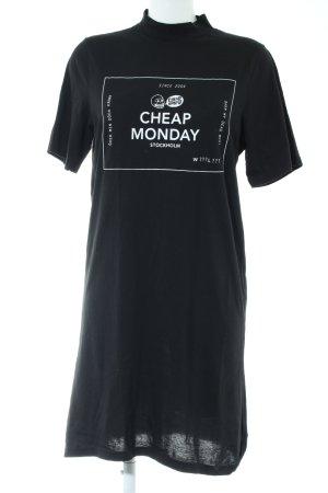 Cheap Monday Shirtkleid schwarz Schriftzug gedruckt Casual-Look