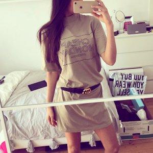Cheap Monday Shirtkleid Longshirt Kleid Camel Beige Nude