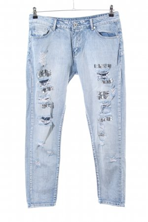Cheap Monday Skinny Jeans blau Street-Fashion-Look