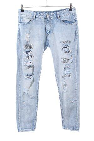 Cheap Monday Skinny Jeans blau Street-Fashion-Look